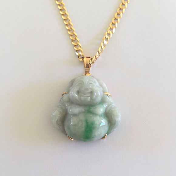 Nlf jewelry jewelry nwot 18k yellow gold laughing buddha jade nwot 18k yellow gold laughing buddha jade pendant aloadofball Choice Image